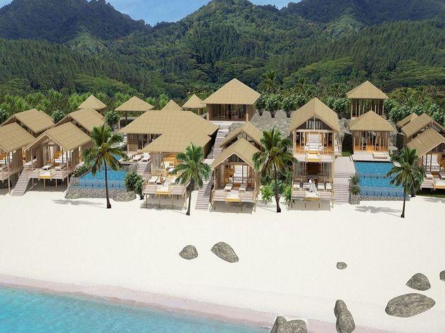 Rarotonga black rock beach pool villa estate own a Black rock estate